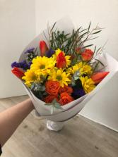 Wrapped Bouquet Arrangement