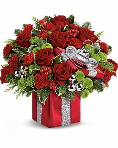 Wrapped Bouquet Christmas Arrangement