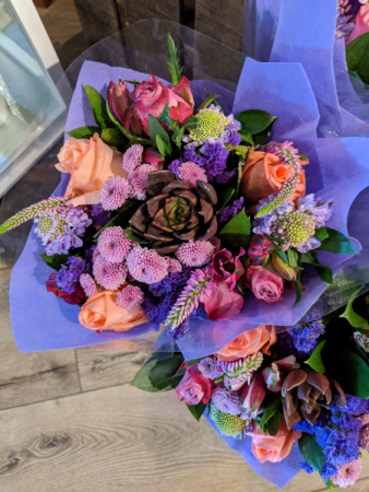 Wrapped Bouquet No Vase arrangement