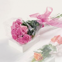 Wrapped Dozen of Roses Hand Bouquet