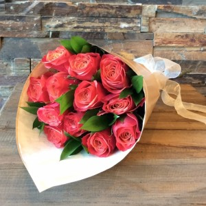 Wrapped Dozen Roses Rose