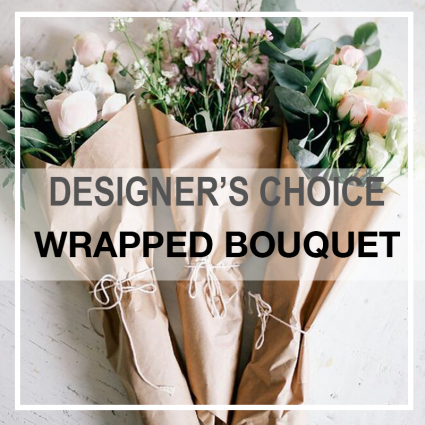 Wrapped Fresh-Cut Flowers  HAND TIED BOUQUET