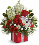 Wrapped In Joy  Holiday Arrangement