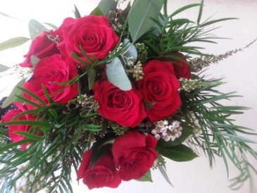 Wrapped in Splendor 1 Doz. Hand Wrapped Roses Pick Up In Store