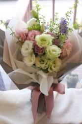 Wrapped Lisianthus Bouquet Bouquet