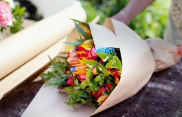 no delivery Wrapped Market Bouquet Wrapped/market