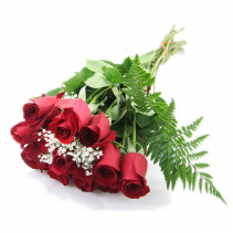 WRAPPED RED ROSES  CUT - WRAPPED BOUQUET