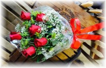 Summer Wrapped Red Rose Special  * Pick Up Only *