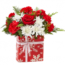 Wrapped Up Christmas Arrangement