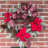 Merry and Bright Holiday Forever Flower Wreath