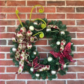 Whimsical Butterfly  Holiday Forever Flower Wreath