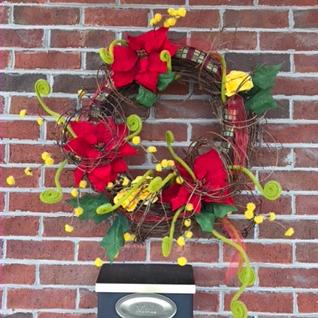 Grapevine Swirl Holiday Forever Flower Wreath