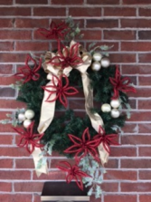 Crazy About Poinsettias Holiday Forever Flower Wreath