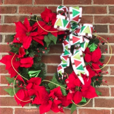 Reds & Greens & Triangle Trees! Holiday Forever Flower Wreath