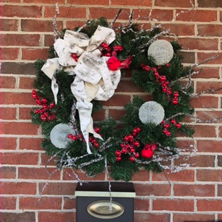 Icicles and Red Birds Holiday Forever Flower Wreath