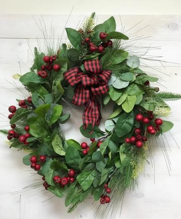 Wreath arrangement  Artificial flowers