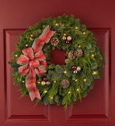 Happy Holidays Christmas Wreath