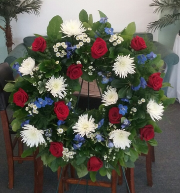 Wreath Funeral Arrangement