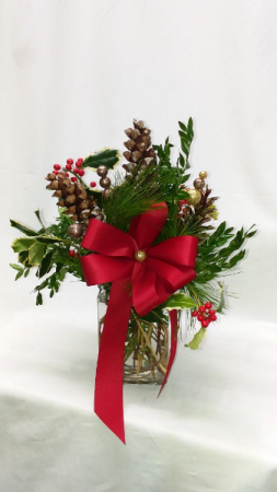 Wreath in a Vase Christmas Cheer in Norway, ME | Green Gardens Florist & Gift Shop