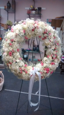 Wreath of Life Funeral Arrangement in Ambler, PA | Flowers By Veronica, Inc.