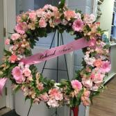 Wreath of Love Wreath on Easel