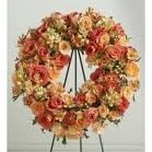 SS 23-Wreath of mixed flowers Flowers and colors may vary
