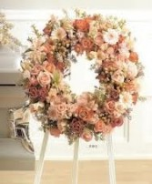 SS 21-Wreath of mixed flowers Flowers and colors may vary
