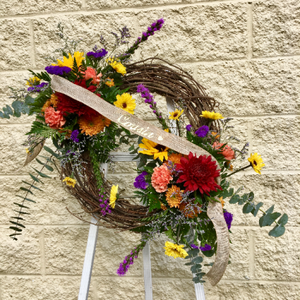 Wreath of Remembering Grapevine Wreath