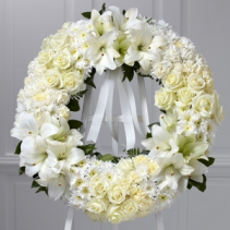 Wreath of Remembrance Funeral Flowers