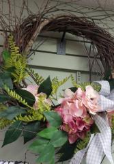 Wreath Pink & Gray