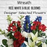 Wreath-Red, White & Blue