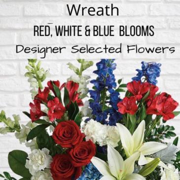 Wreath-Red, White & Blue