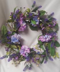 Silk Wreath...Shades of purples