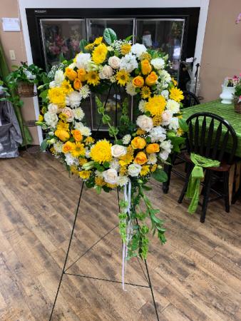 Wreath Standing Spray Funeral Arrangement