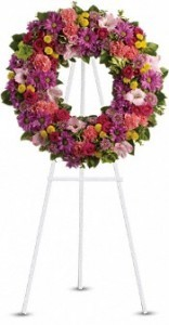 Song of melody standing wreath