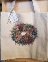 Floral Wreath Tote Bag Gift Item