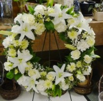 Wreath with Lilies Wreath