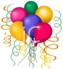 6 Mixed Color Latex Balloons! Can add to cupcake  cakes, cookies, arrangements, etc.