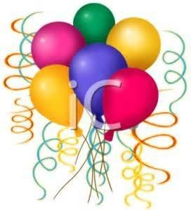 6 Mixed Color Latex Balloons with a weight!  arrangements, or send alone.