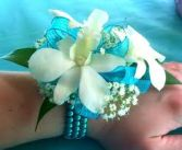 Wrist Corsage  White orchids Prom Corsage