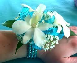 Wrist Corsage  White orchids Prom Corsage