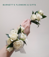 Wrist Corsage With Matching Boutonniere