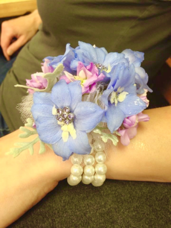 Wrist Corsage with Pearl Bracelet  Corsage