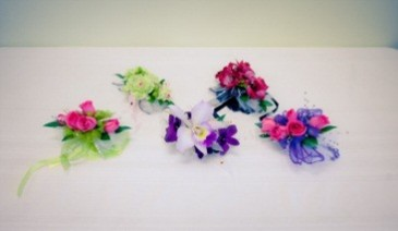 Custom Designed Wrist Corsages Stop in Store