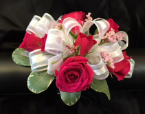 Wristlet w/ hot pink roses  Prom