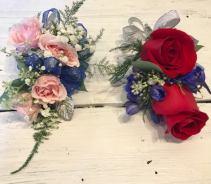wristlet/corsages roses and accents