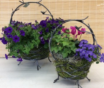 Wrought Iron Bird Vine Planter