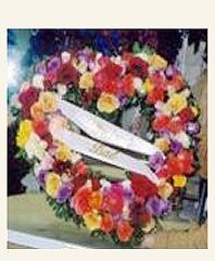SYMPATHY HEART Floral Wreath