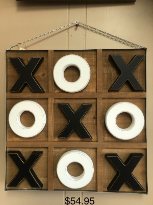 x and o game and wall hanging  in Hamiota, MB | Campbell Flowers and Gifts