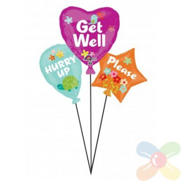 X-Large Mylar Get Well Balloon